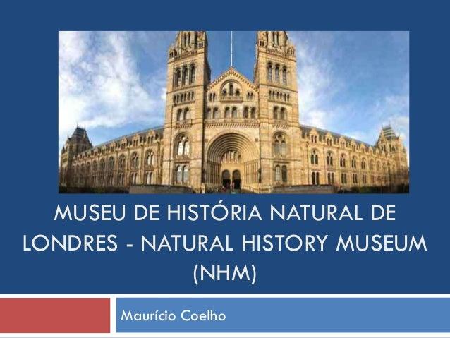 MUSEU DE HISTÓRIA NATURAL DE LONDRES - NATURAL HISTORY MUSEUM (NHM) Maurício Coelho