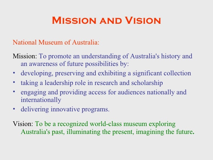 Museum Mission Statements