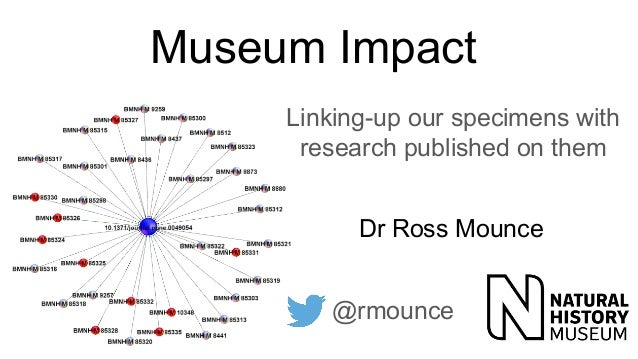 Museum Impact Linking-up our specimens with research published on them Dr Ross Mounce @rmounce