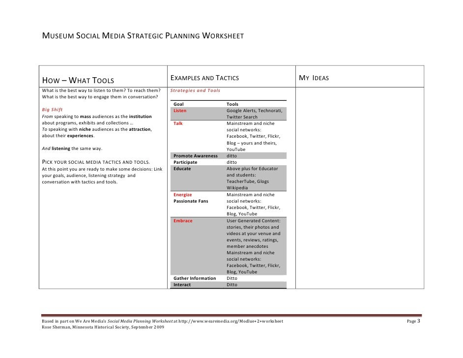 Pictures Strategic Planning Worksheet - Toribeedesign