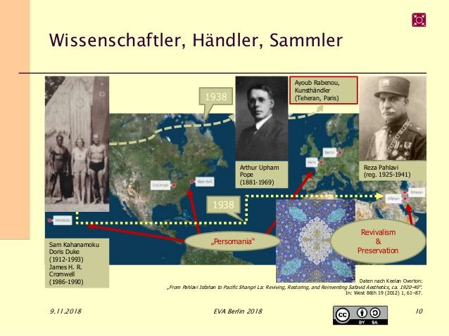 Wissenschaftler, Händler, Sammler 9.11.2018 EVA Berlin 2018 Arthur Upham Pope (1881-1969) Reza Pahlavi (reg. 1925-1941) Sa...
