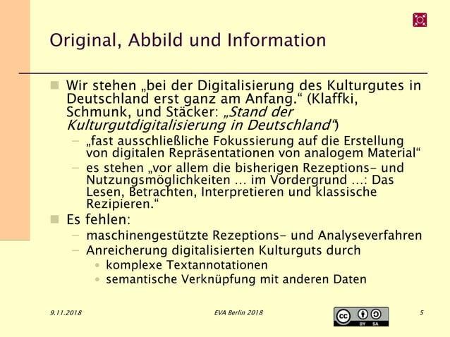 """Original, Abbild und Information  Wir stehen """"bei der Digitalisierung des Kulturgutes in Deutschland erst ganz am Anfang...."""