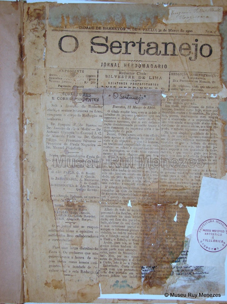 O Sertanejo 31/03/1900