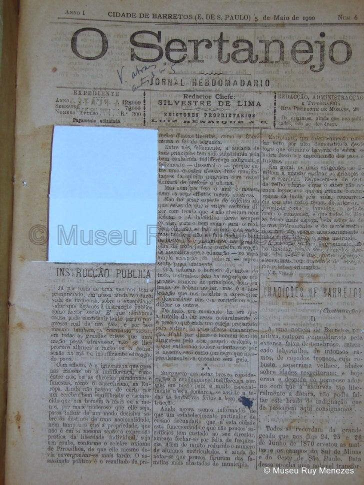 O Sertanejo 05/05/1900 Museu Ruy Menezes