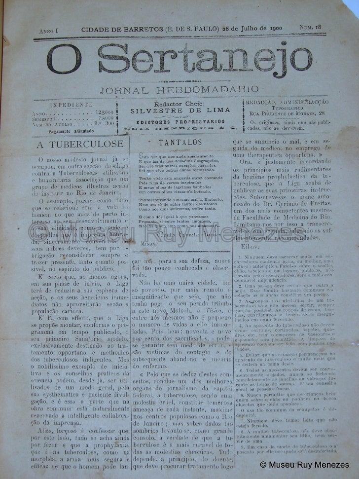 O Sertanejo 28/07/1900 Museu Ruy Menezes