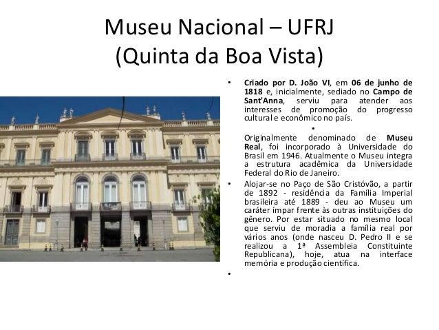 PESqUISAS SOBRE OS ACERVOS DO MUSEU D. JOãO VI E DO MUSEU