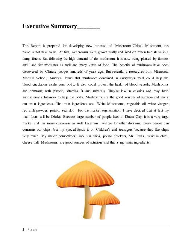 Business plan on mushroom chips - Wild mushrooms business ideas ...