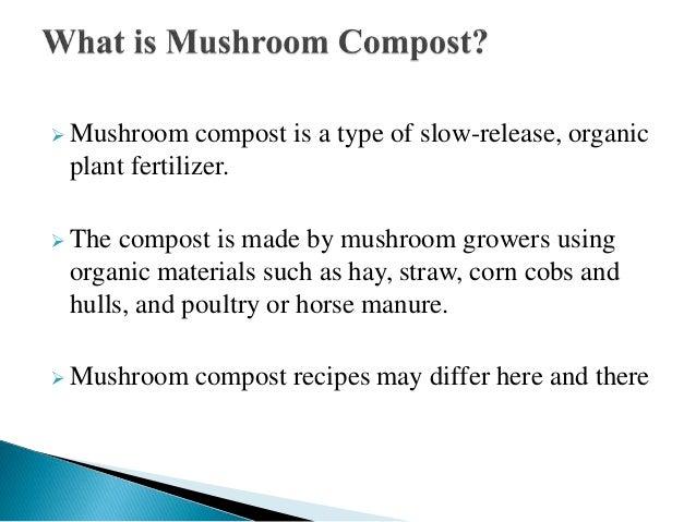 Mushroom compost A Presentation By Mr Allah Dad Khan Former