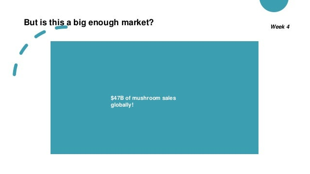 But is this a big enough market? Week 4 $47B of mushroom sales globally!
