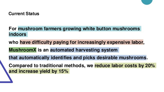 Current Status For mushroom farmers growing white button mushrooms indoors who have difficulty paying for increasingly exp...