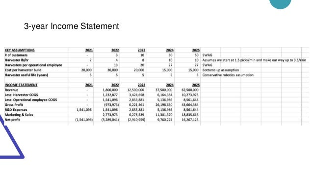 3-year Income Statement