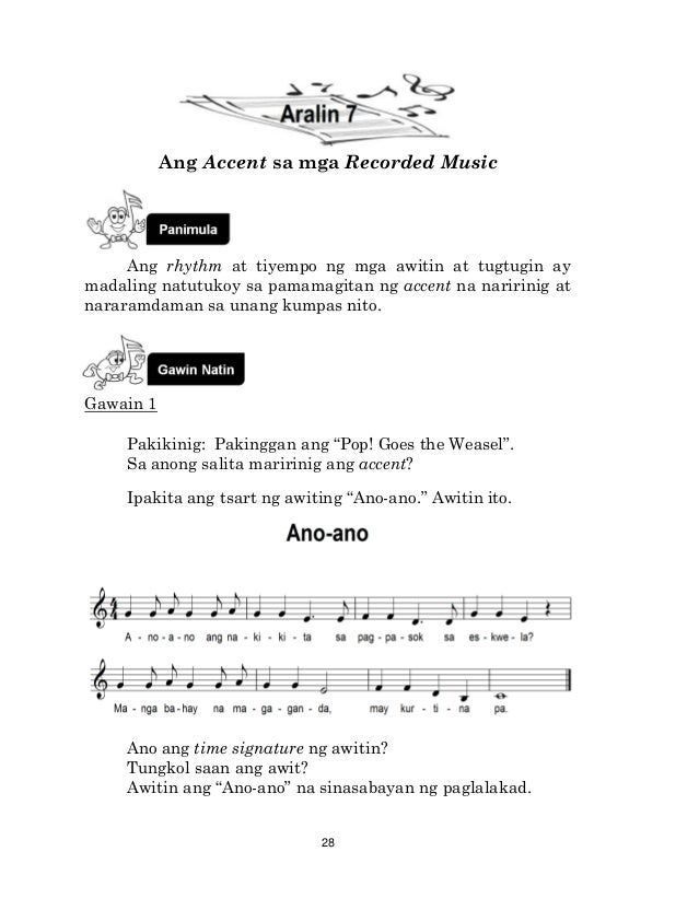 K TO 12 GRADE 4 LEARNER'S MATERIAL IN MUSIC (Q1-Q4)