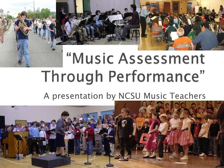 A presentation by NCSU Music Teachers