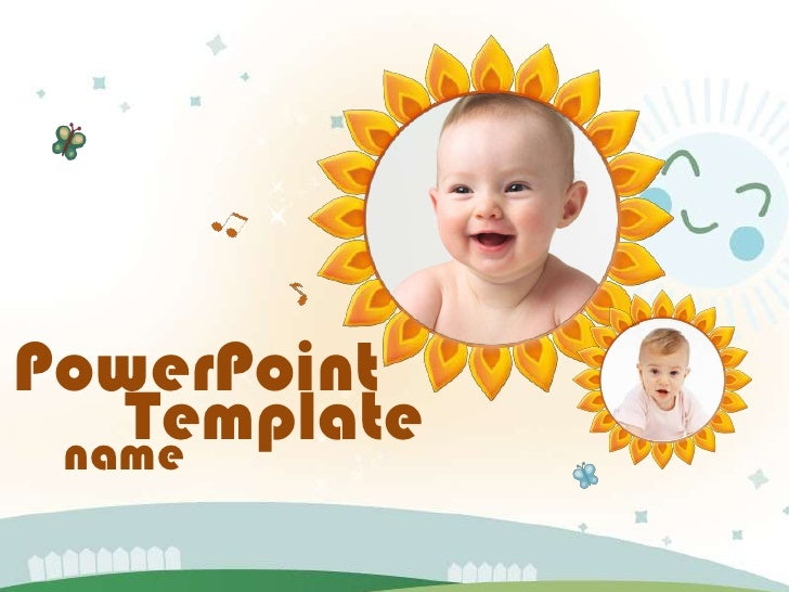 music baby ppt template
