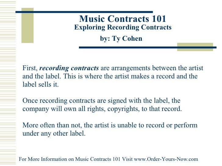 Music Contracts 101