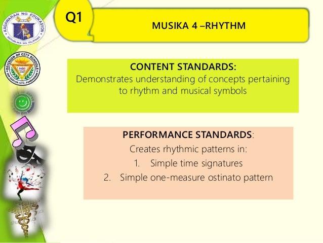 MUSIKA 4 –RHYTHM(Ang Simbolo at Konsepto sa Musika) Q1 CONTENT STANDARDS: Demonstrates understanding of concepts pertainin...