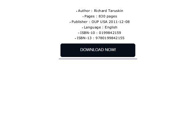 music in the seventeenth and eighteenth centuries taruskin richard