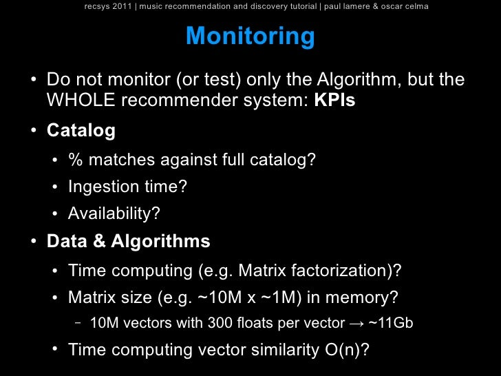 recsys 2011   music recommendation and discovery tutorial   paul lamere & oscar celma                                    M...