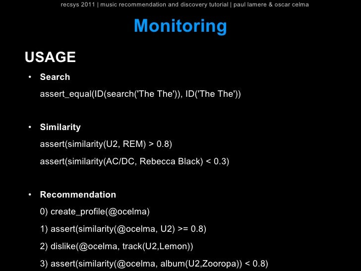 recsys 2011   music recommendation and discovery tutorial   paul lamere & oscar celma                                 Moni...
