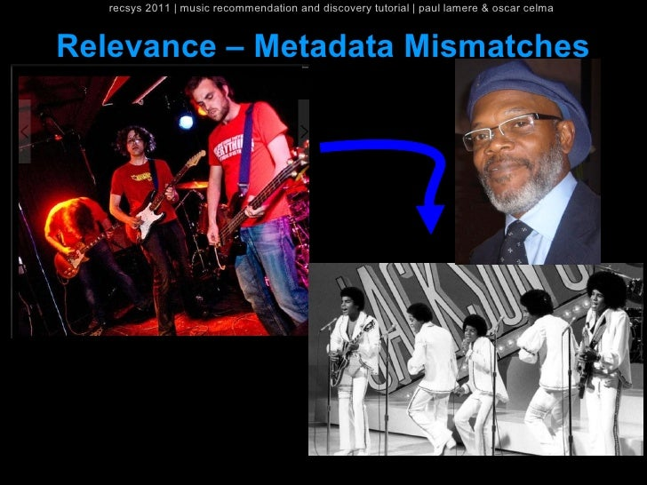 recsys 2011   music recommendation and discovery tutorial   paul lamere & oscar celmaRelevance – Metadata Mismatches      ...