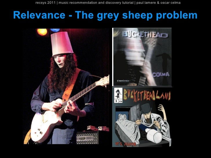 recsys 2011   music recommendation and discovery tutorial   paul lamere & oscar celmaRelevance - The grey sheep problem