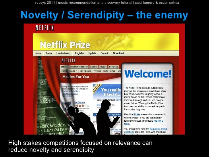 recsys 2011   music recommendation and discovery tutorial   paul lamere & oscar celma    Novelty / Serendipity – the enemy...