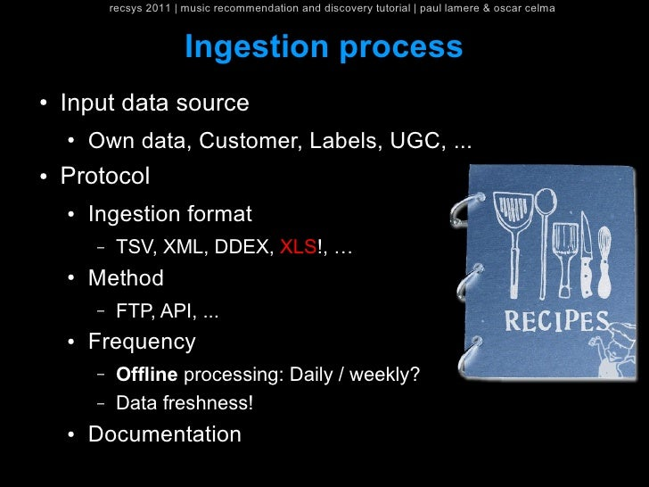 recsys 2011   music recommendation and discovery tutorial   paul lamere & oscar celma                          Ingestion p...