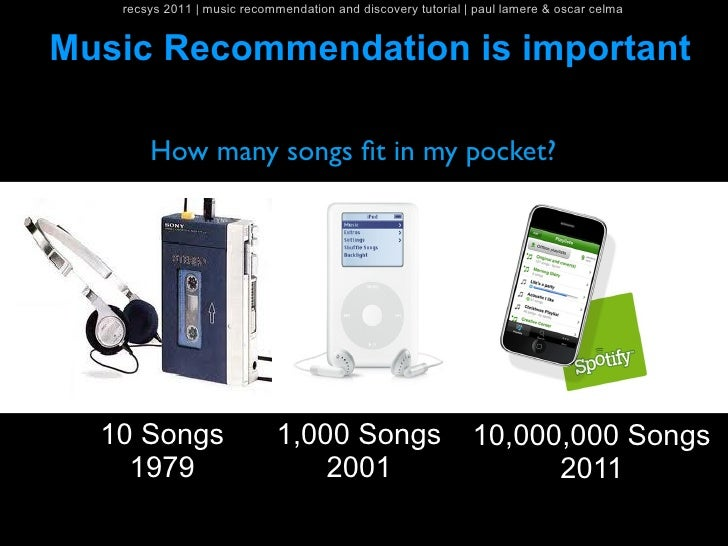 recsys 2011   music recommendation and discovery tutorial   paul lamere & oscar celmaMusic Recommendation is important    ...