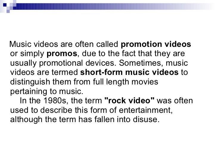 history of music videos pdf