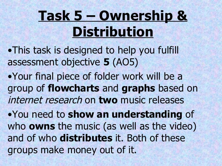 Task 5 – Ownership & Distribution <ul><li>This task is designed to help you fulfill assessment objective  5  (AO5) </li></...