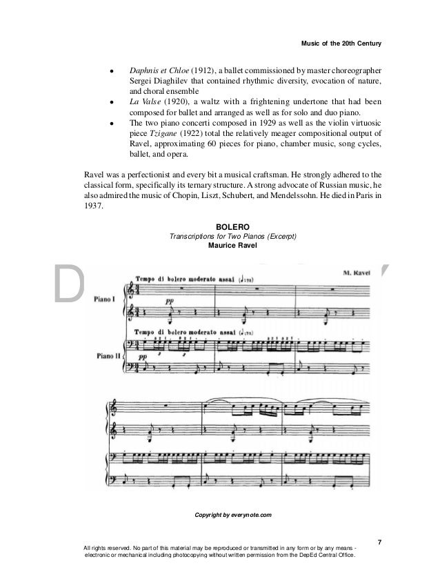DEPED COPY Music of the 20th Century 7  Daphnis et Chloe (1912), a ballet commissioned by master choreographer Sergei Dia...