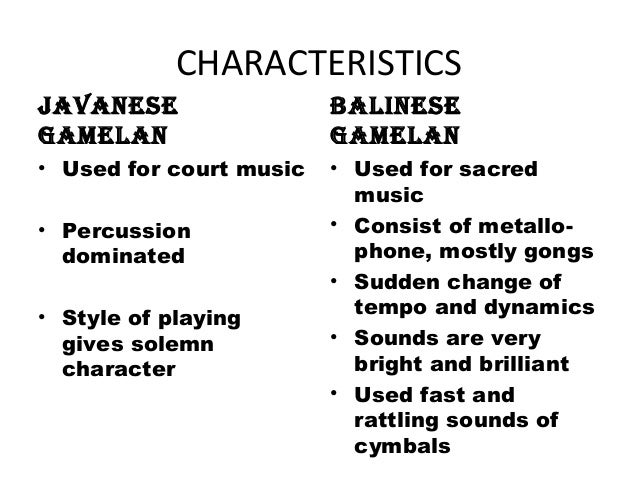 difference between javanese and balinese