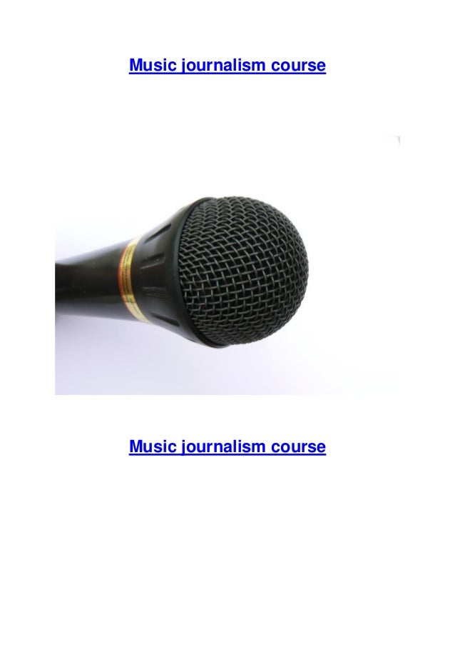 Music journalism course  Music journalism course