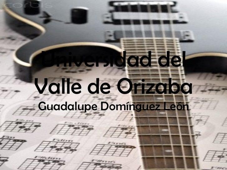 Universidad del Valle de Orizaba Guadalupe Domínguez León