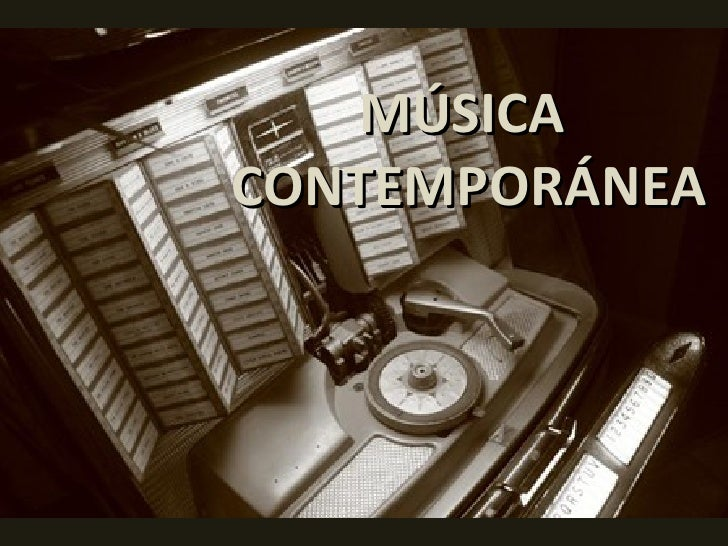 Musica contemporanea for Caracteristicas de la contemporanea