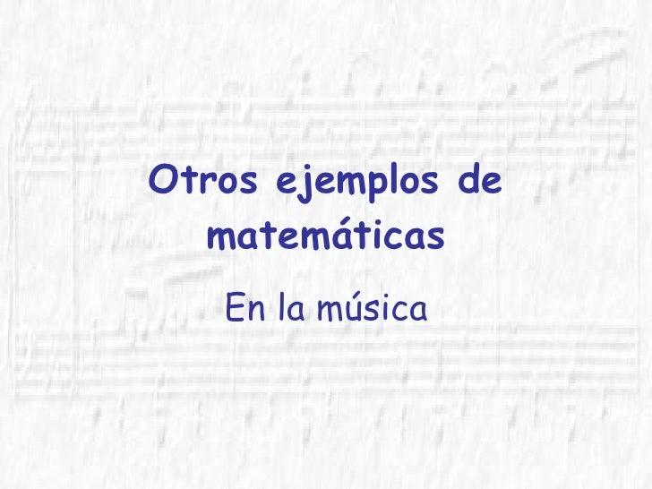 Musica Matematicas