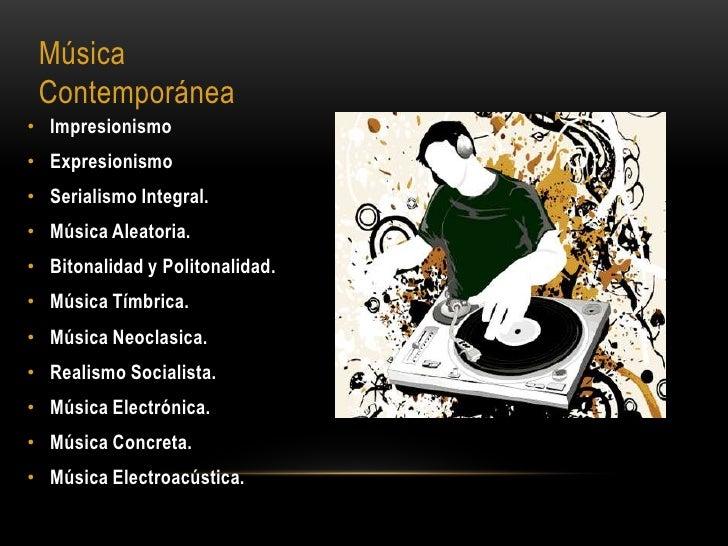 Musica academica for Caracteristicas de los contemporaneos