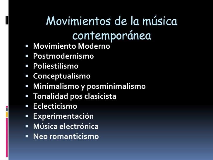 Musica anglosajona y contemporanea for Caracteristicas de la contemporanea