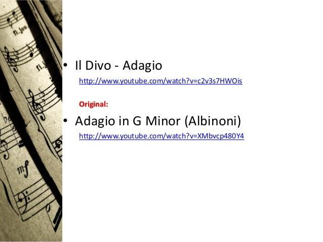 Musica barroca - Youtube il divo adagio ...