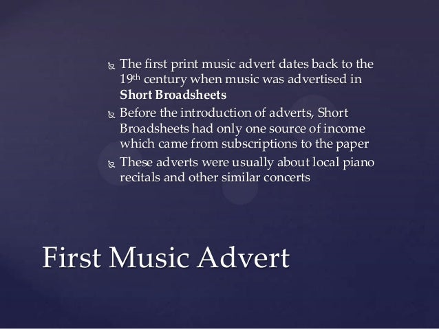 The history of music in advertising