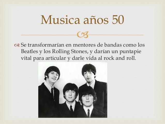 Musica en decadas 30 40 50 60 70 y 80 - Musica anos 50 americana ...