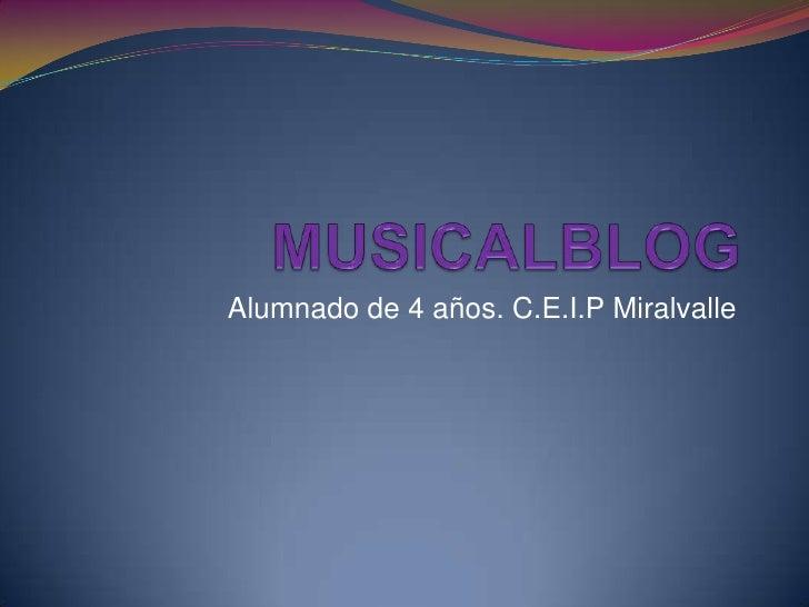 Alumnado de 4 años. C.E.I.P Miralvalle