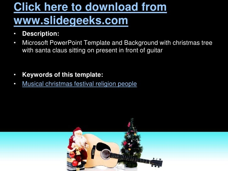 Musical Christmas Power Point Templates