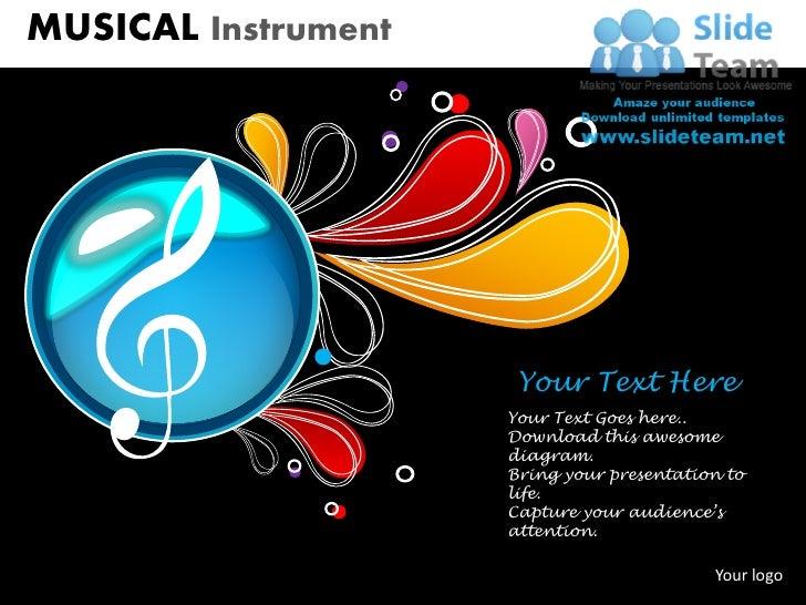 musical instrument powerpoint presentation slides ppt