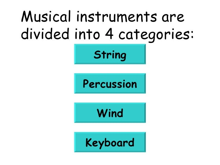 Printables 4 Classification Of Musical Instruments musical instruments are divided into 4