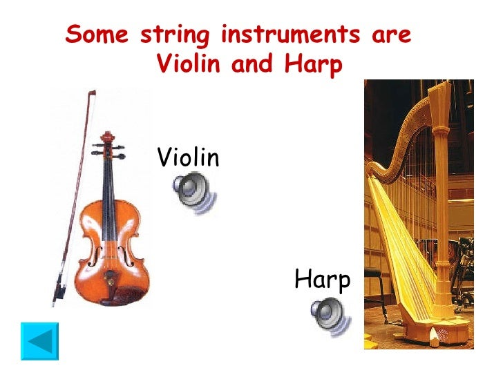 Printables 4 Classification Of Musical Instruments musical instruments some string are violin and harp harp