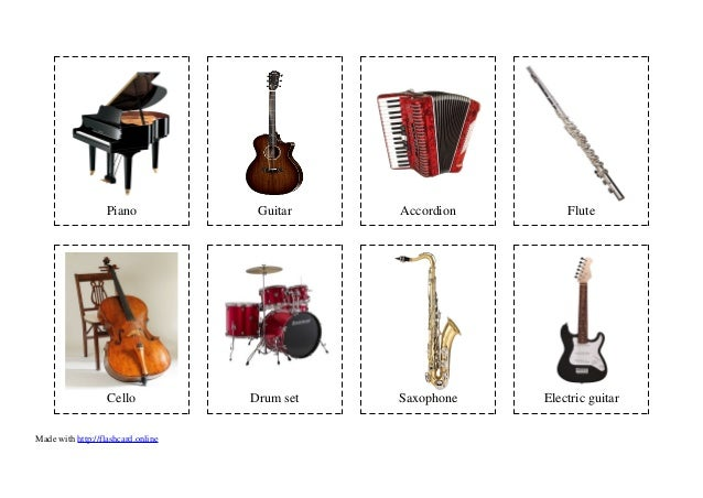 32 Flashcards of Musical instruments