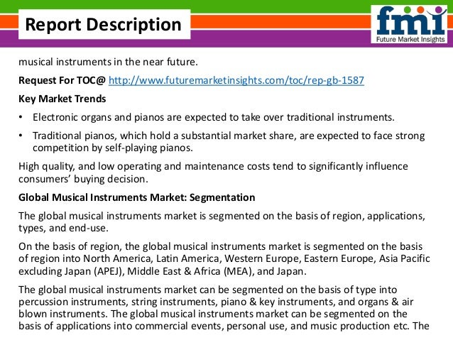 musical instruments in the near future. Request For TOC@ http://www.futuremarketinsights.com/toc/rep-gb-1587 Key Market Tr...