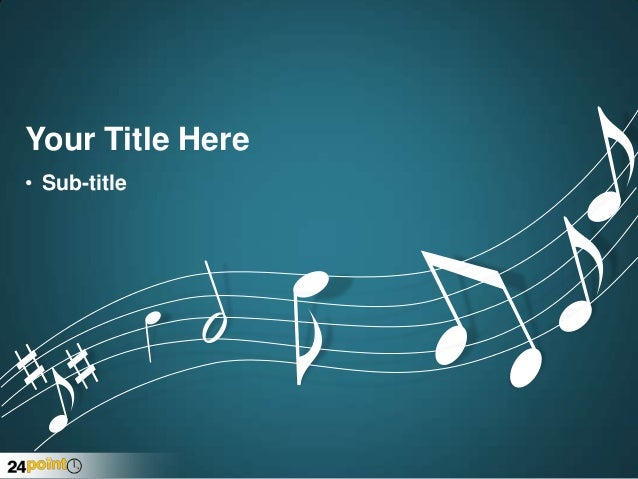 music notes powerpoint template, Powerpoint templates
