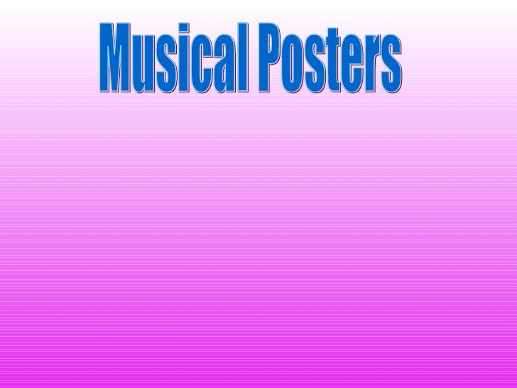 Musical Posters